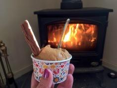 Ice cream in autumn