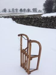 Snow in Cumbria - sledge