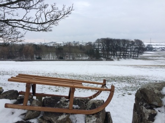 Snow in Cumbria - sledge