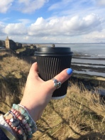 StAnza Poetry Festival - coffee and St Andrews castle