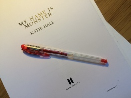 Proof pages of My Name is Monster, by Katie Hale