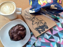writing in cafes - notebooks and coffee
