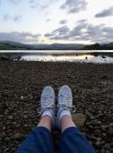 feet by a lake