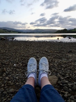 feet by a lake